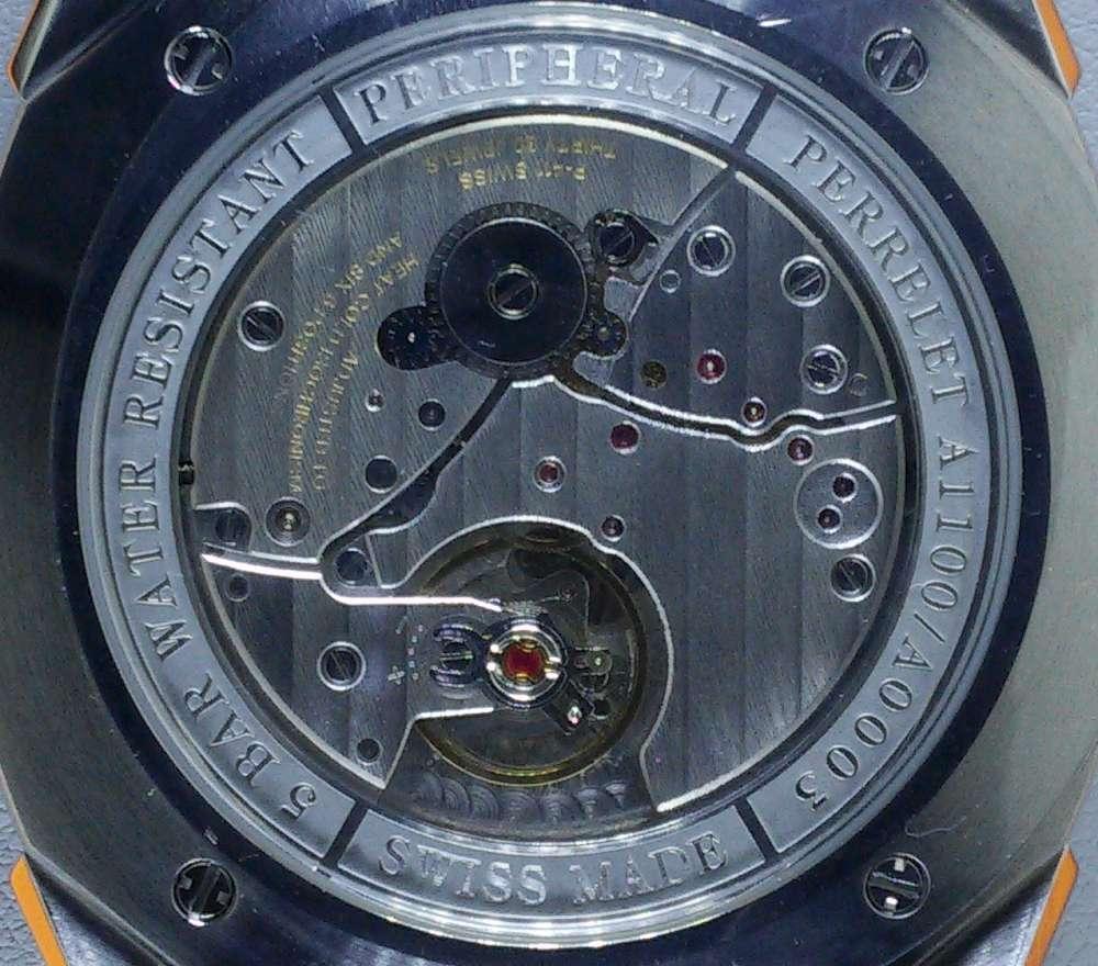 Perrelet Lab, caseback detail
