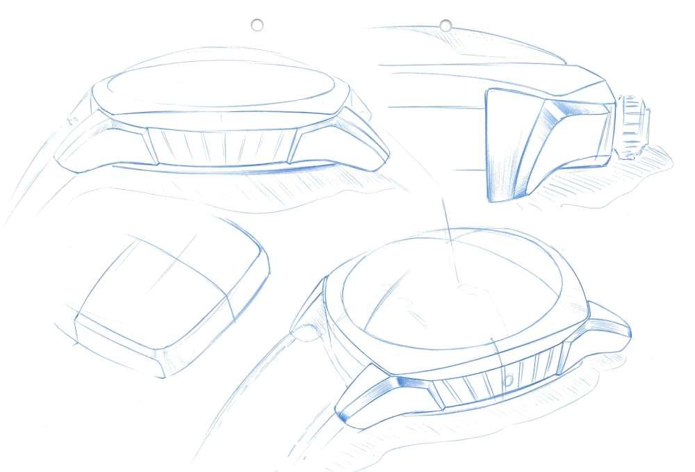 Perrelet Lab, design sketches