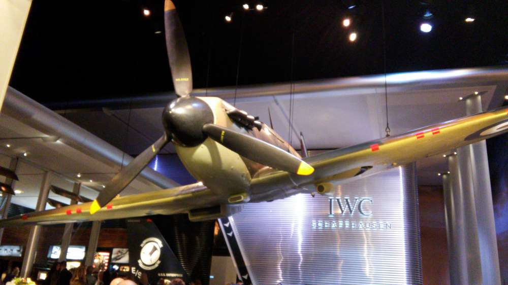 SIHH 2016, the IWC stand with a Spitfire
