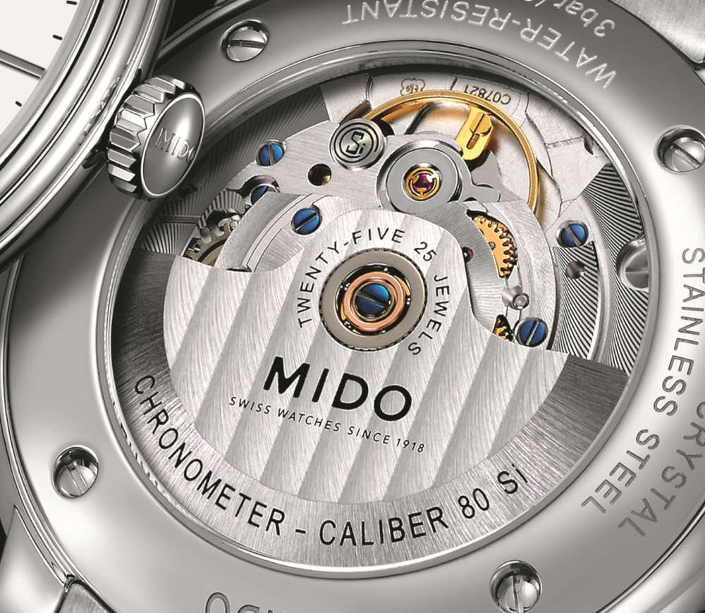 Mido Baroncelli Calibre 80 Chronometer Si Calibre 80 movement