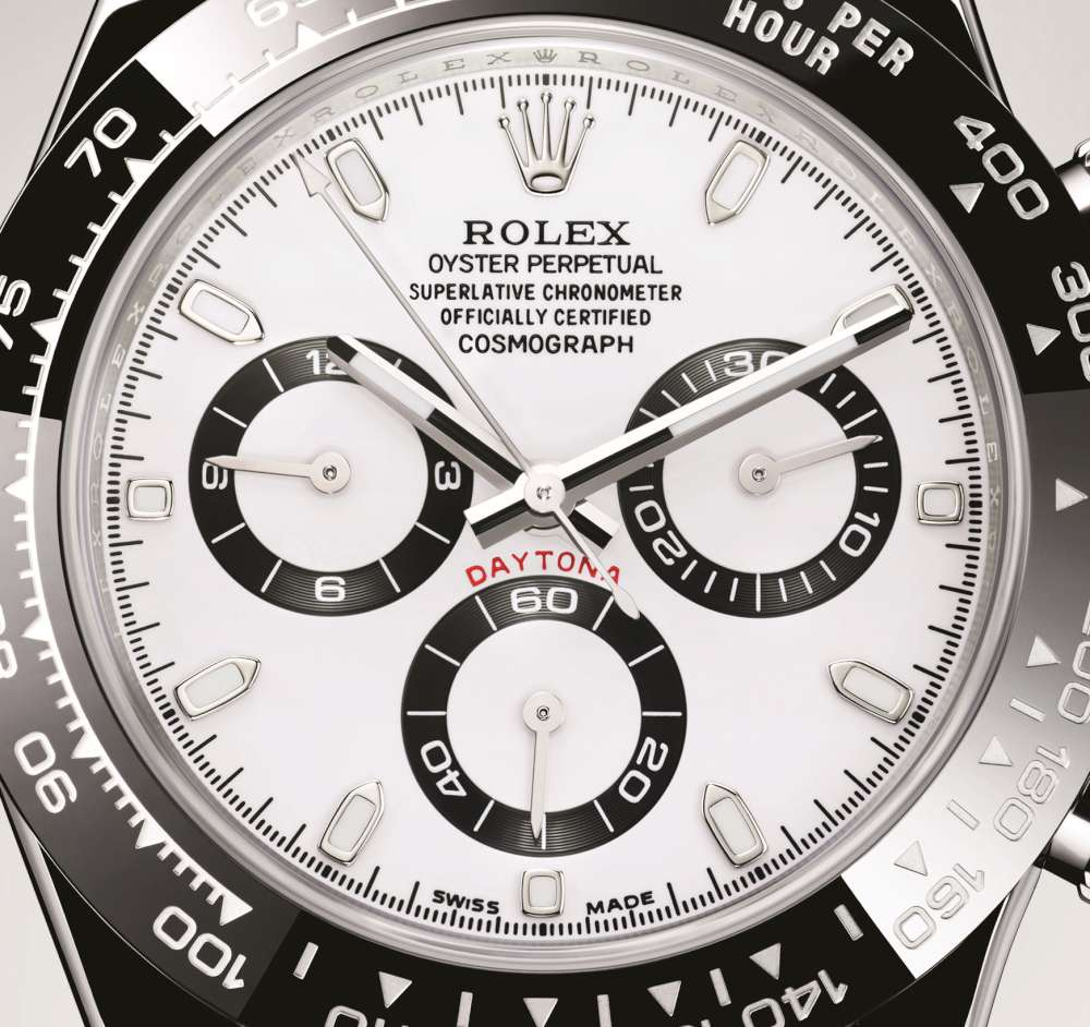 Rolex Oyster Perpetual Cosmograph Daytona dial detail