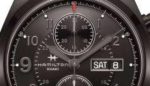 Hamilton Khaki Field Black Auto Chrono