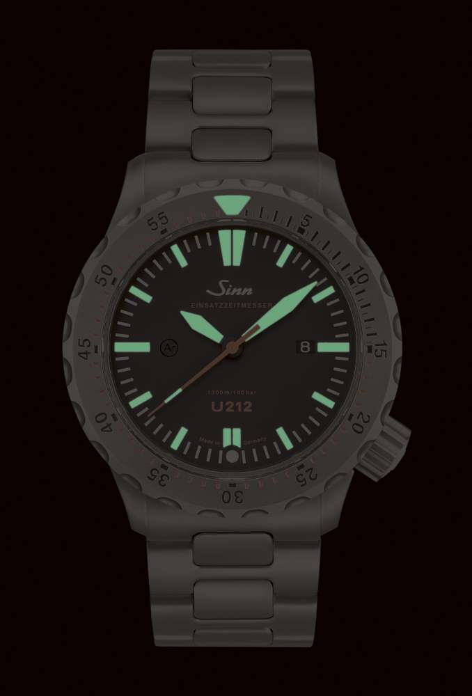 Sinn U212 diving watch, Superluminova