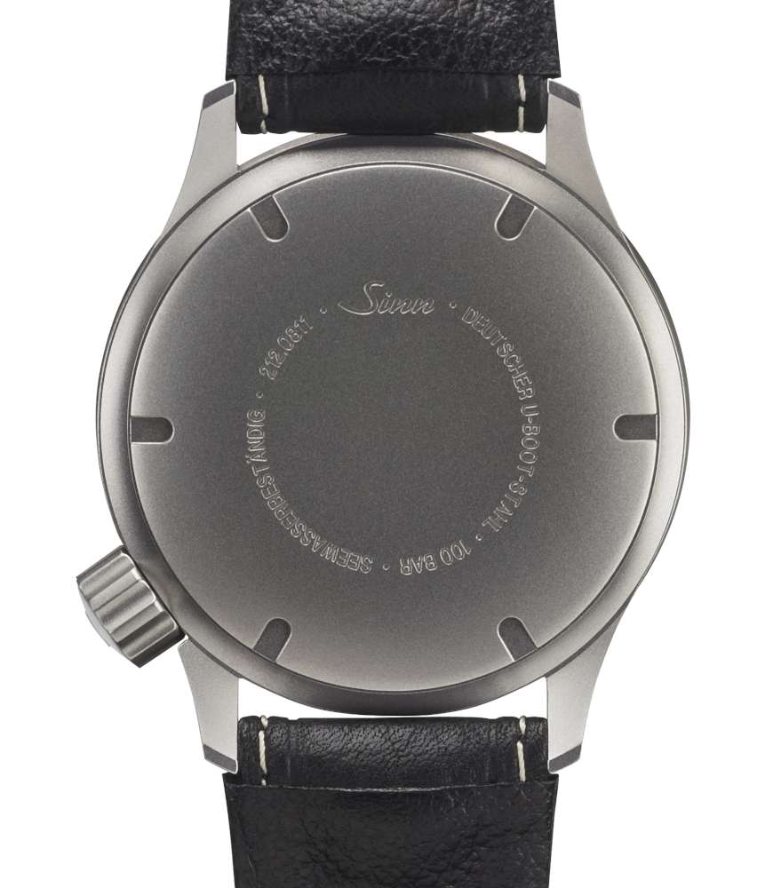 Sinn U212 diving watch, caseback