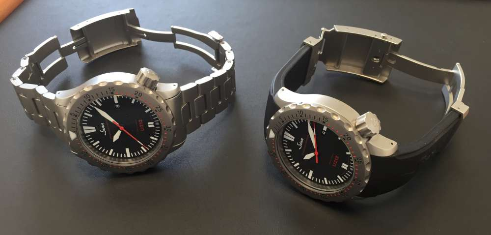 Sinn U212, expandable bracelet and silicone strap