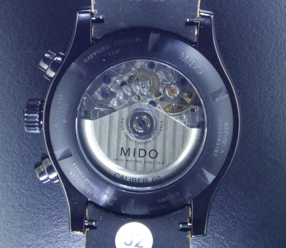 Mido Multifort Chronograph Adventure caseback