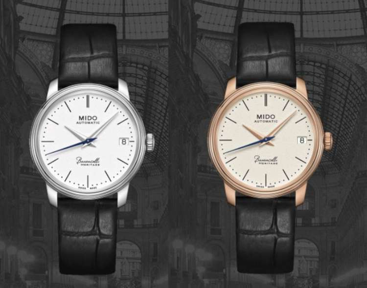 Mido Baroncelli Heritage 33mm grained ivory dial
