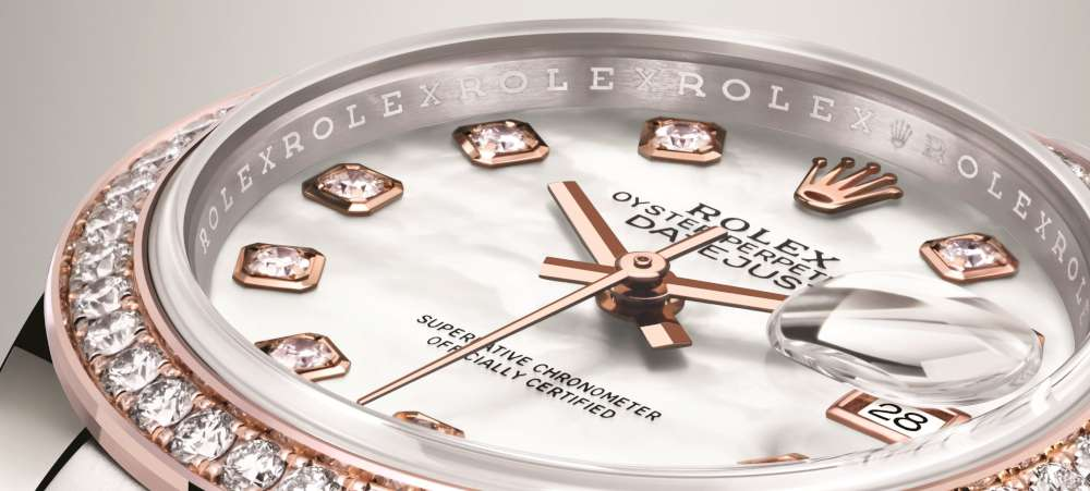 Rolex Lady-Datejust 28 bezel flange