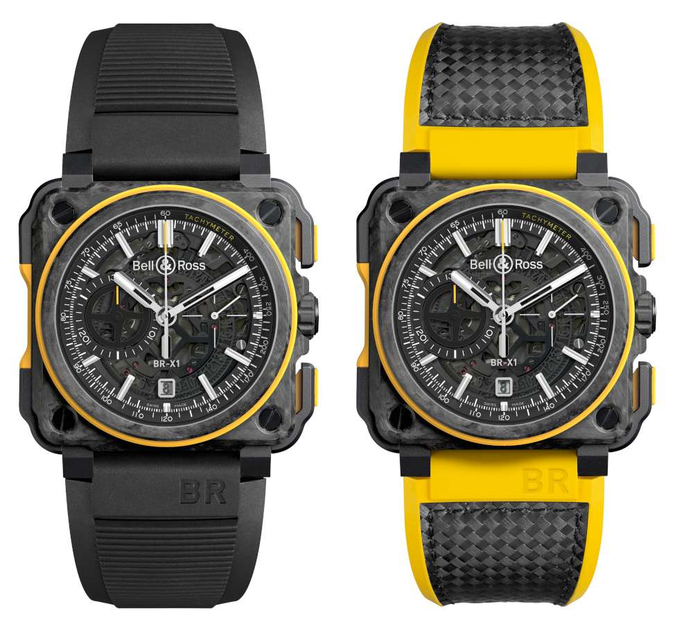 Bell & Ross BR-X1 RS16 chronograph strap versions