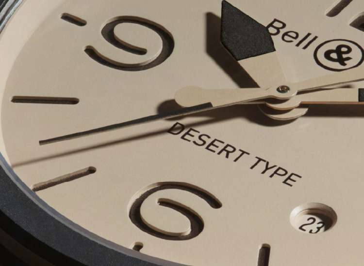 Bell & Ross BR 03-92 Desert Type automatic dial detail