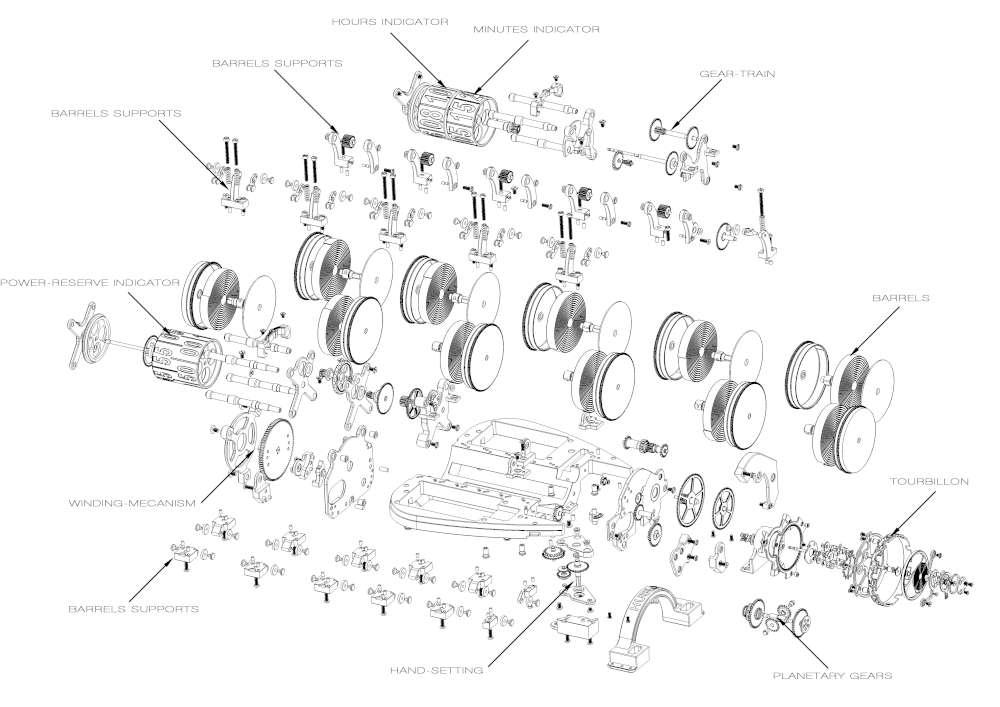Hublot MP-05 LaFerrari diagram