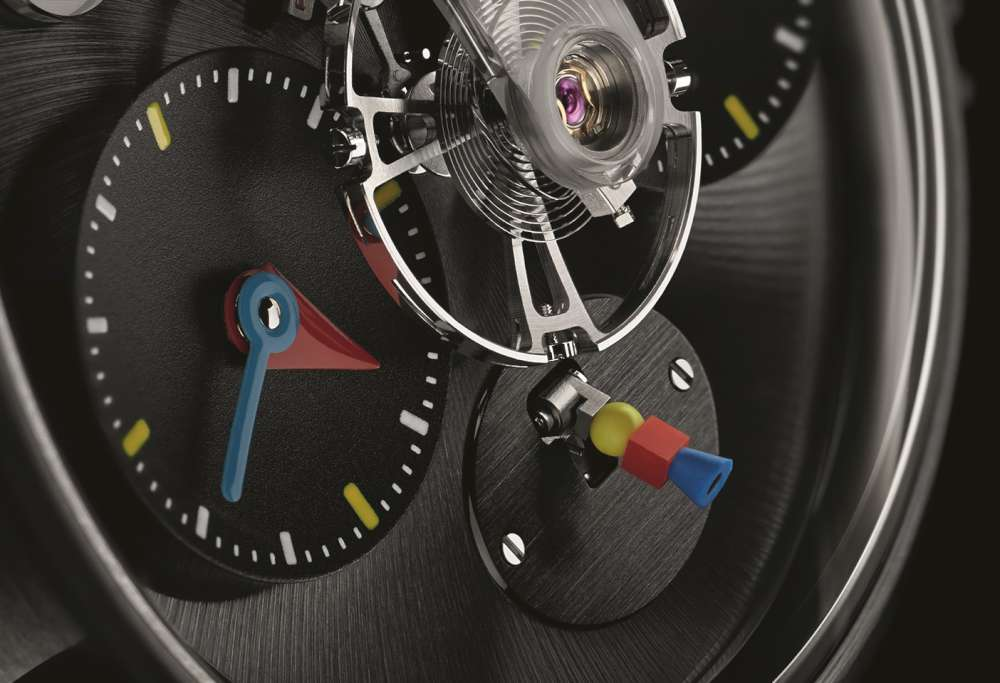 MB&F LM1 Silberstein power reserve indicator