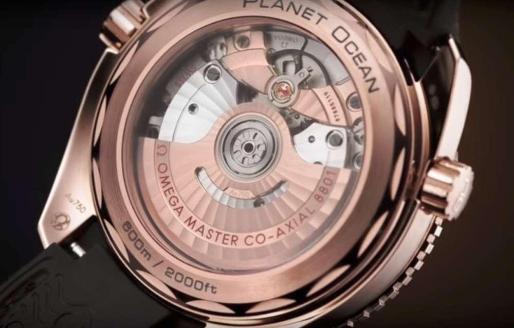 Omega Seamaster Planet Ocean 600M Chocolate, Omega co-axial calibre 8801 movement