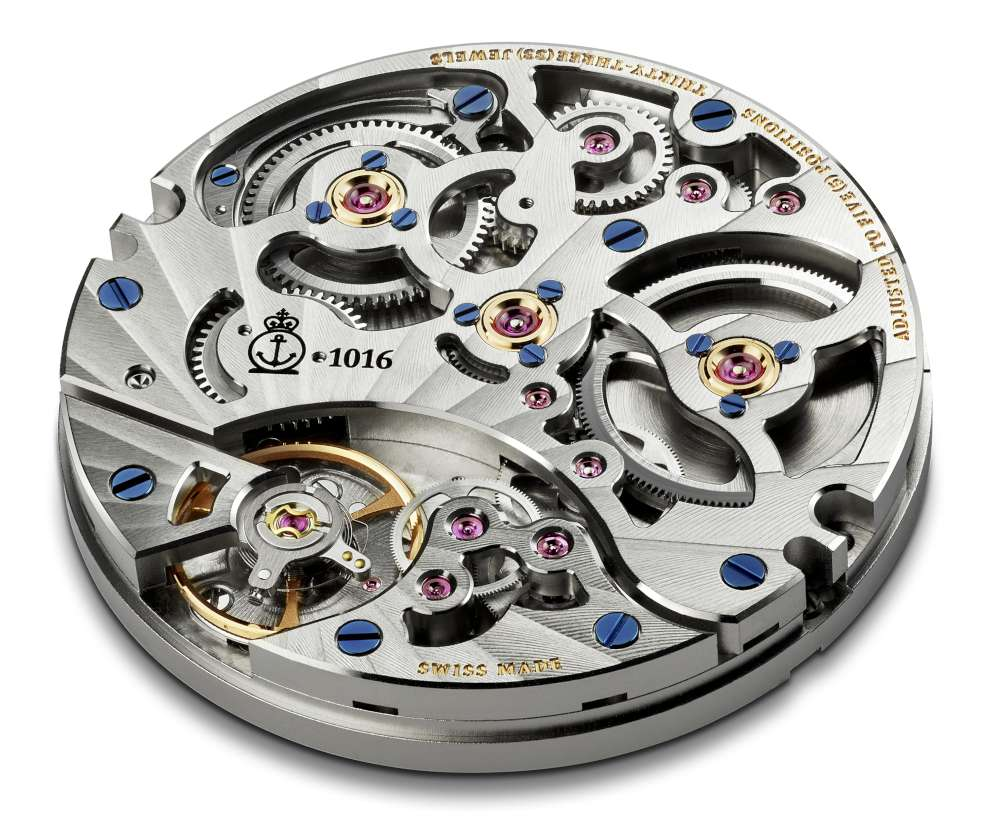 Arnold & Son Eight-Day Royal Navy, A&S1016 movement