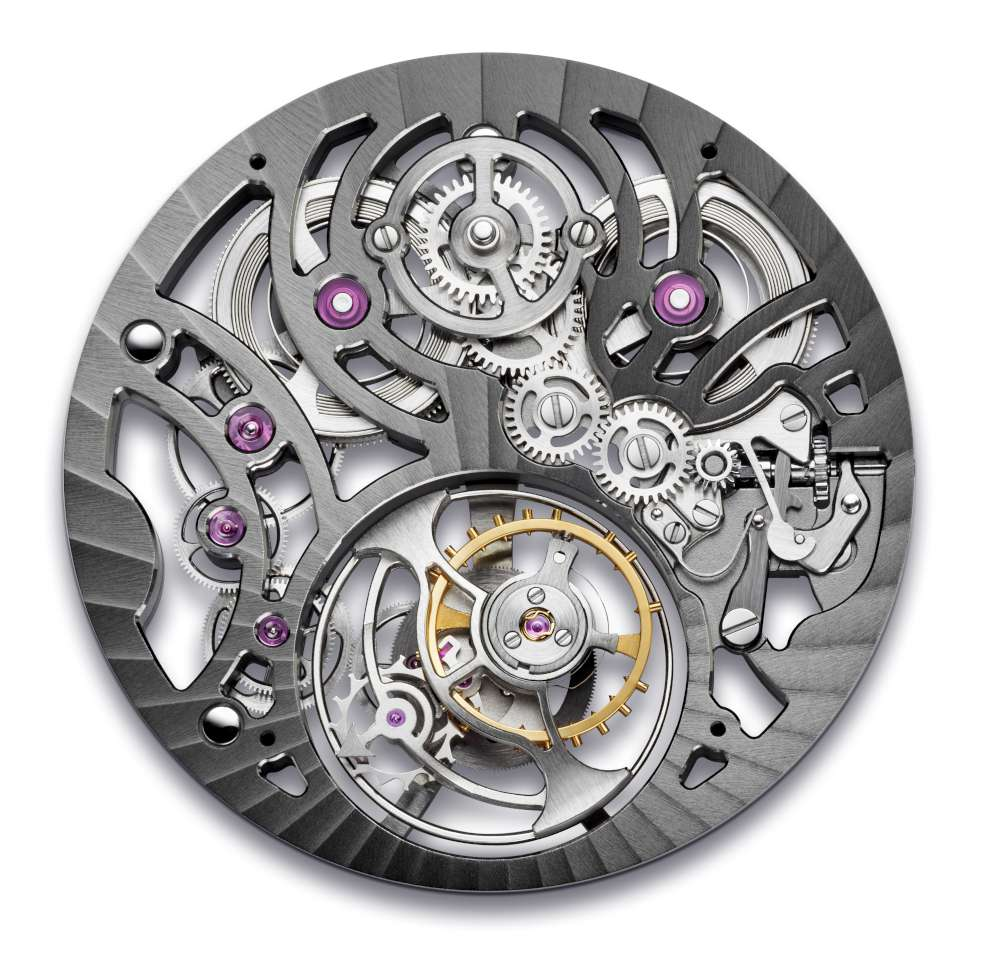A&S8220 movement, dial side, Arnold & Son UTTE Skeleton