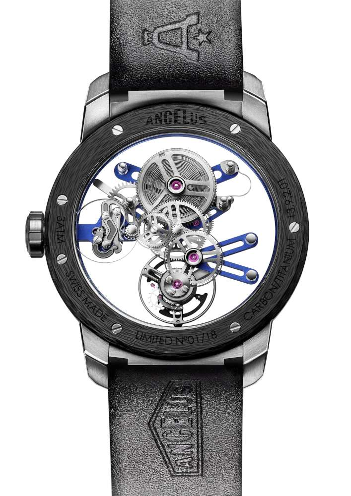 Angelus U20 Ultra Skeleton Tourbillon, caseback