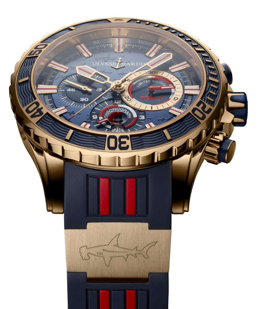 Ulysse Nardin Diver Chronograph Hammerhead Shark, gold version