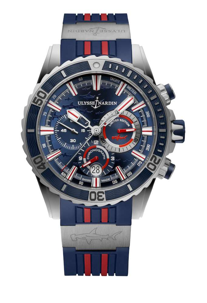 Ulysse Nardin Diver Chronograph Hammerhead Shark, steel version