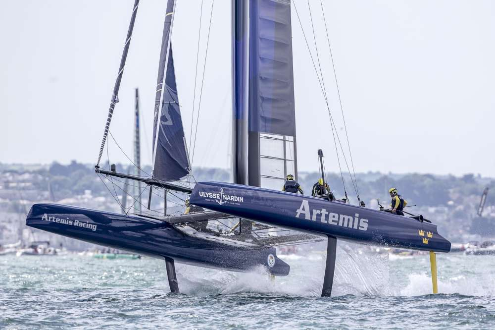 Artemis racing at Portsmouth
