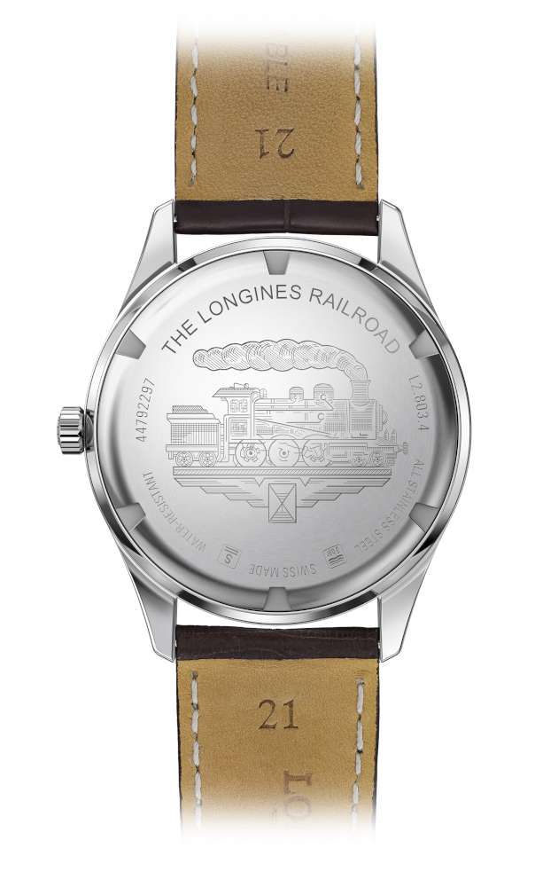 Longines RailRoad, caseback