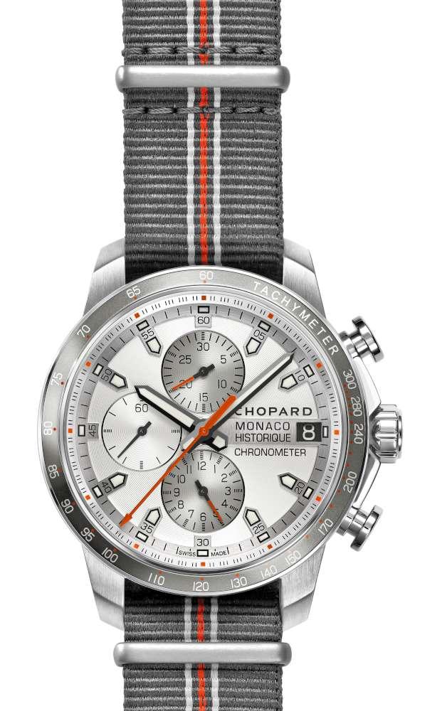 Chopard Grand Prix de Monaco Historique 2016 Race Edition, steel and titanium, NATO strap