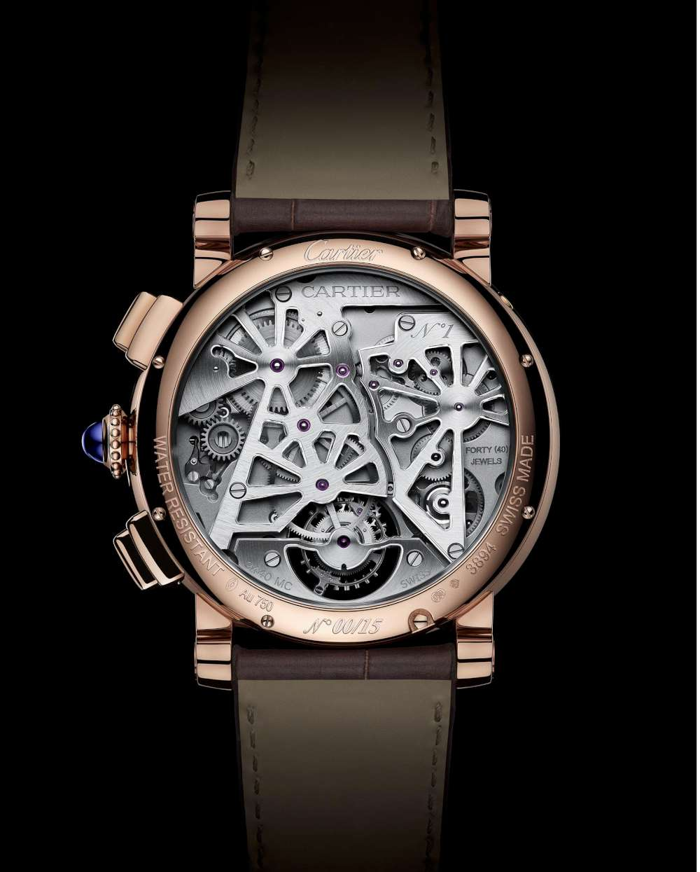 Cartier Rotonde de Cartier Earth and Moon, caseback