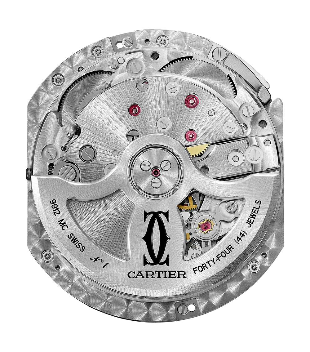 Rotonde de Cartier Day/Night Retrograde Moon Phases, calibre 9912 MC movement