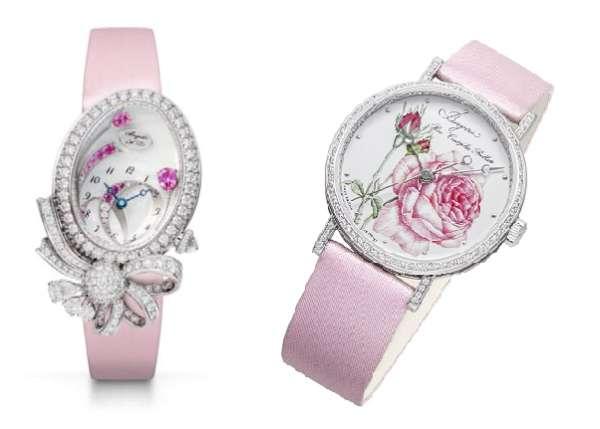 Breguet Désir de la Reine Haut Joaillerie, ref. GJ27BB8924PSDD8; Breguet Classique Rose de la Reine 9075, ref. 9075BB/25/876 DD00 02