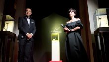Model and TV star Christel Takigawa with Breguet Vice President J.-C. Zufferey