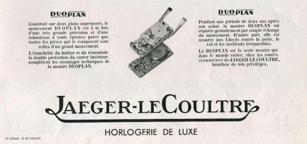 Jaeger-LeCoultre Duoplan