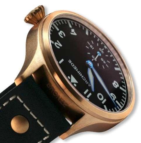 Archimede Pilot 42 HandWound Bronze