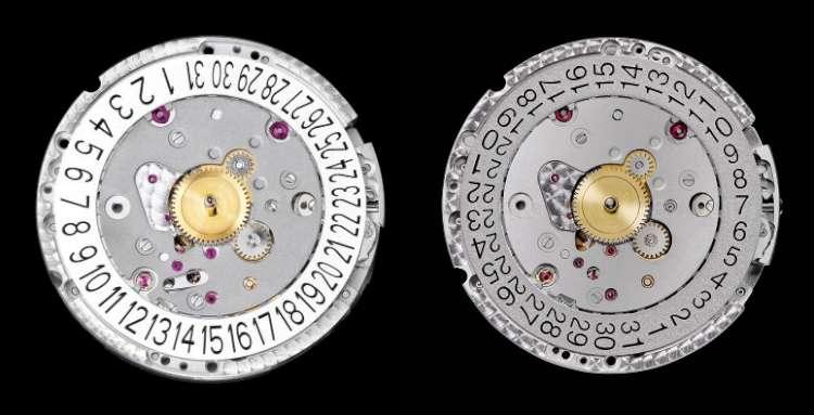 Calibre Piaget 1110P and calibre Cartier 1904-PS
