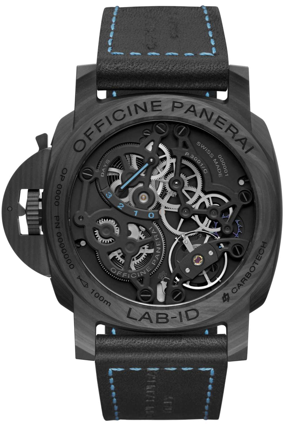Panerai LAB-ID Luminor 1950 Carbotech 3 Days PAM 00700, caseback