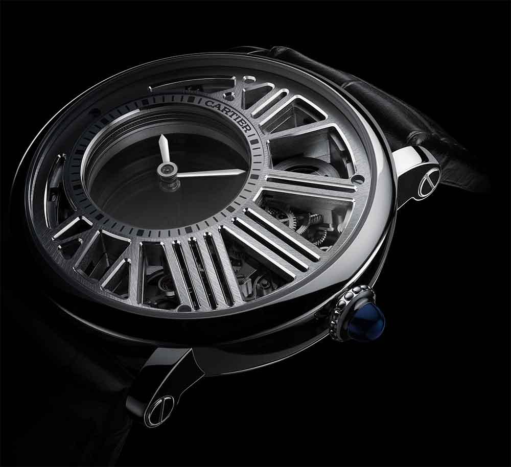 Rotonde De Cartier Skeleton Mysterious Hour Watch
