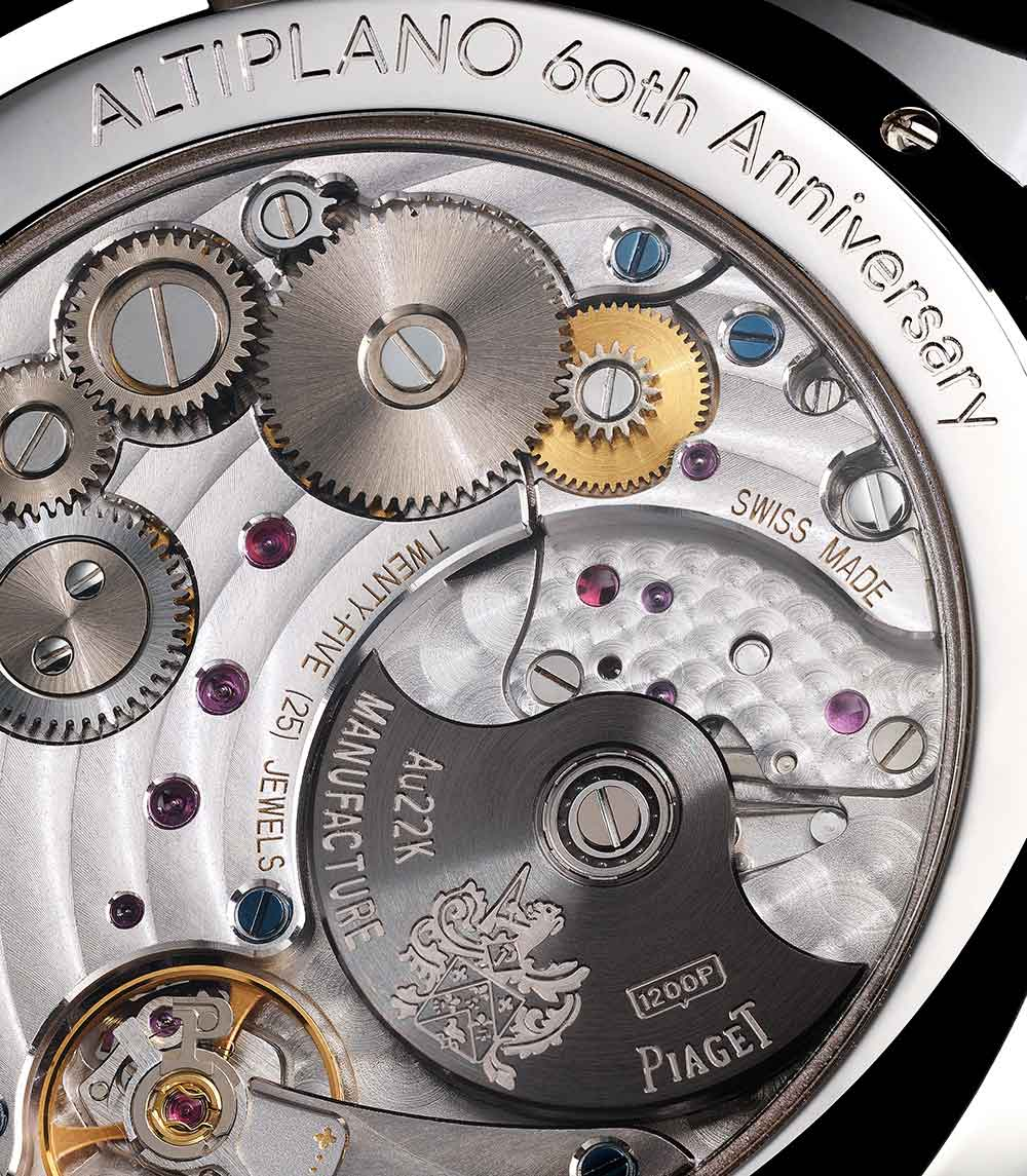 Altiplano 60th anniversary collection 43 mm self-winding, G0A42105, caseback