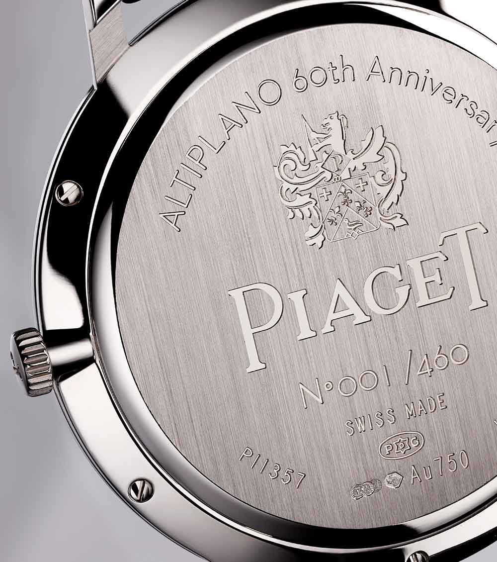 Piaget Altiplano 60th anniversary collection 38 mm hand wound, G0A42107, caseback