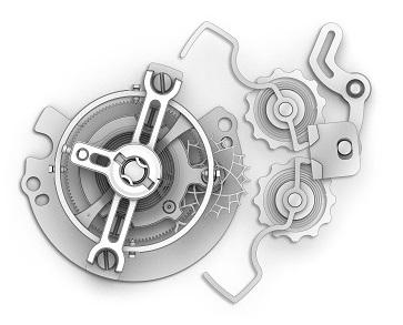 IWC Da Vinci Tourbillon Rétrograde Chronograph, reference IW393101, tourbillon clamp