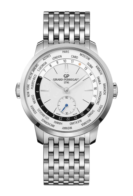 Girard-Perregaux 1966 WW.TC reference 49557-11-132-11A in steel with steel bracelet