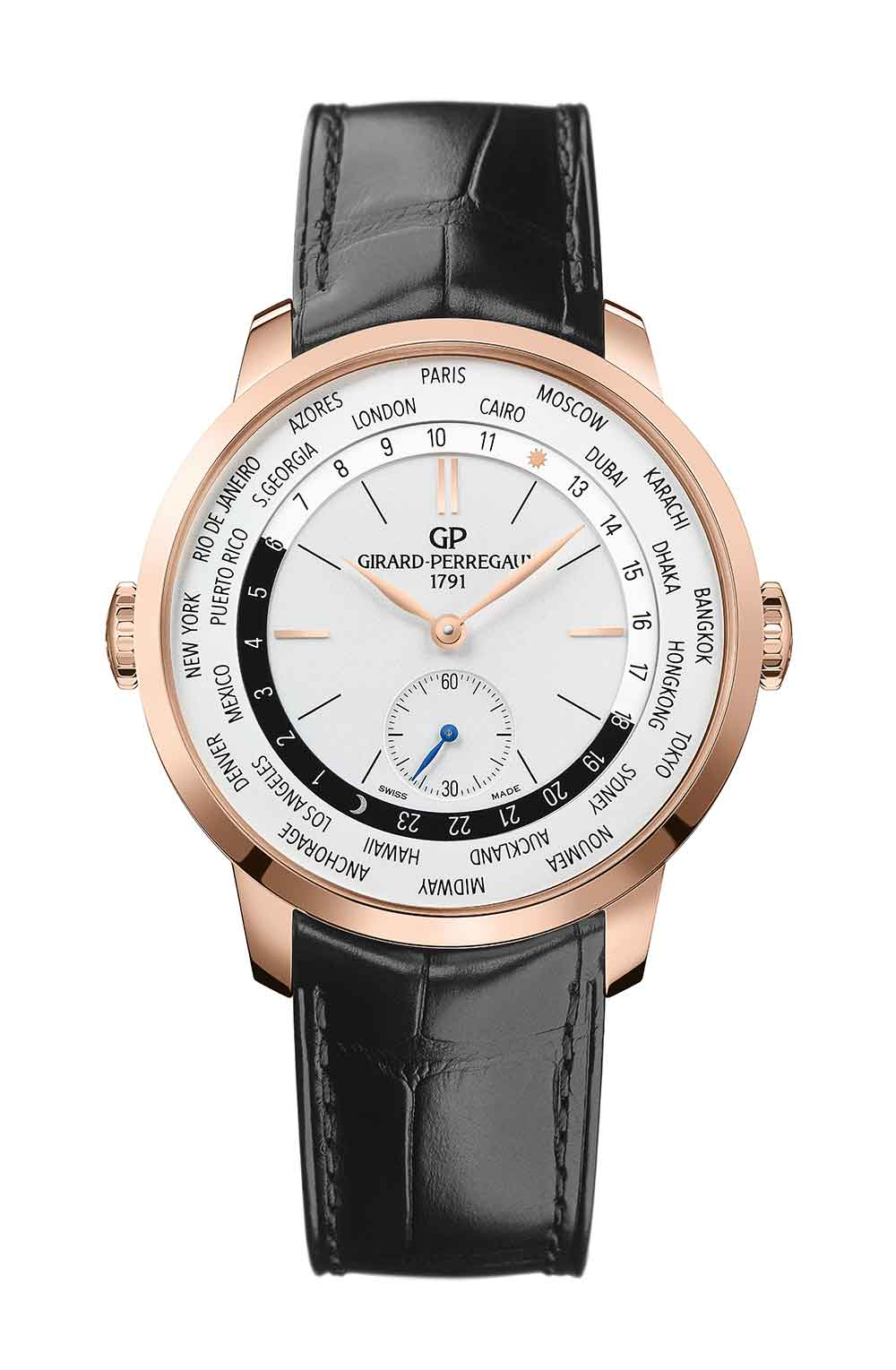 Girard-Perregaux 1966 WW.TC reference 49557-52-131-BB6C in pink gold