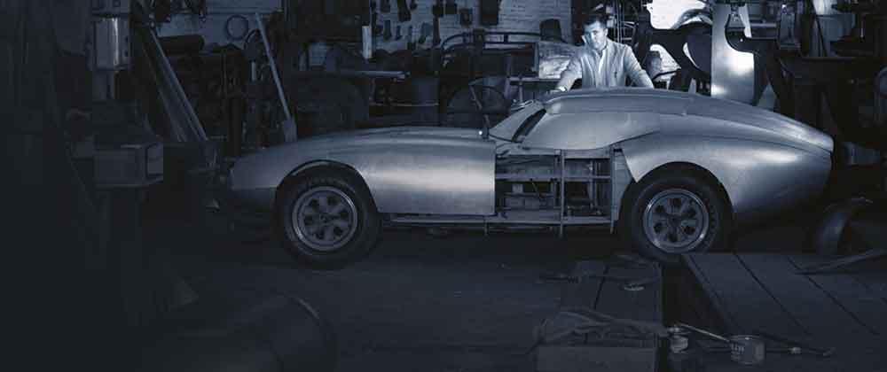 Peter Brock building the Shelby Cobra Daytona Coupé, 1963