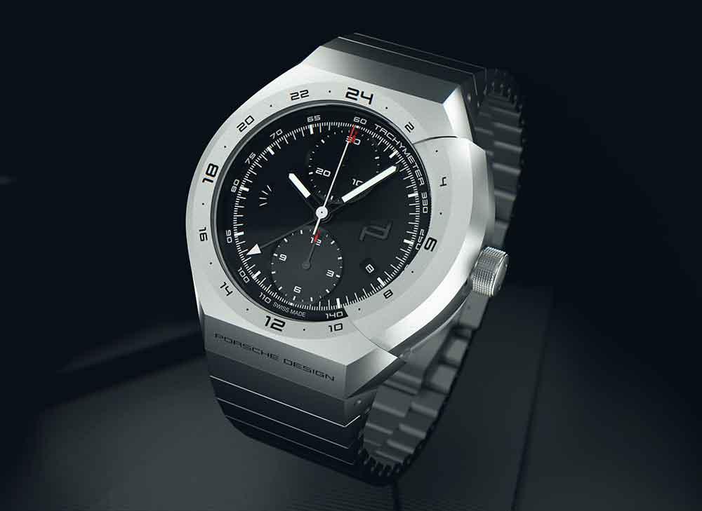 Porsche Design Monobloc Actuator Titanium Chronograph, reset