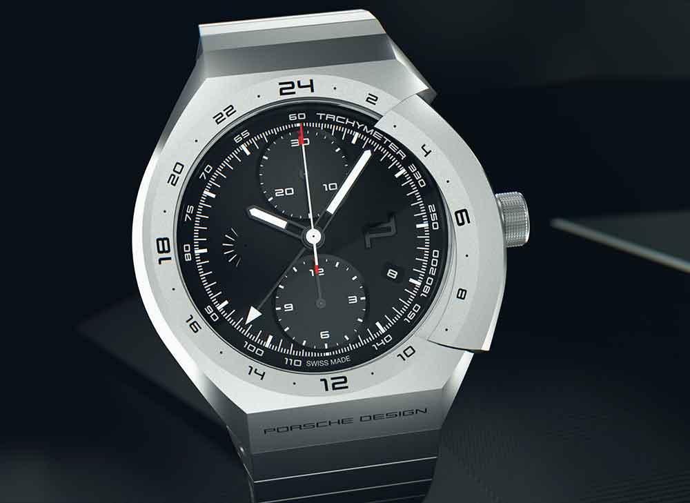 Porsche Design Monobloc Actuator Titanium Chronograph, start-stop
