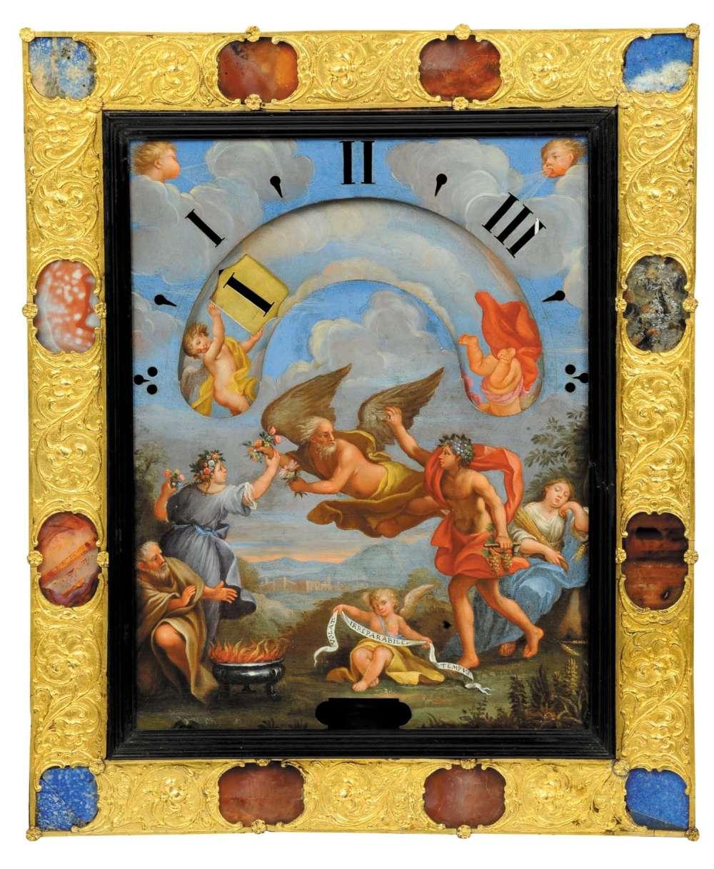 Night clock, Rome, 1682, by Pietro Tommaso Campani, Carlo Maratta and Giacomo Hermann (attr.), photo www.cambiaste.com