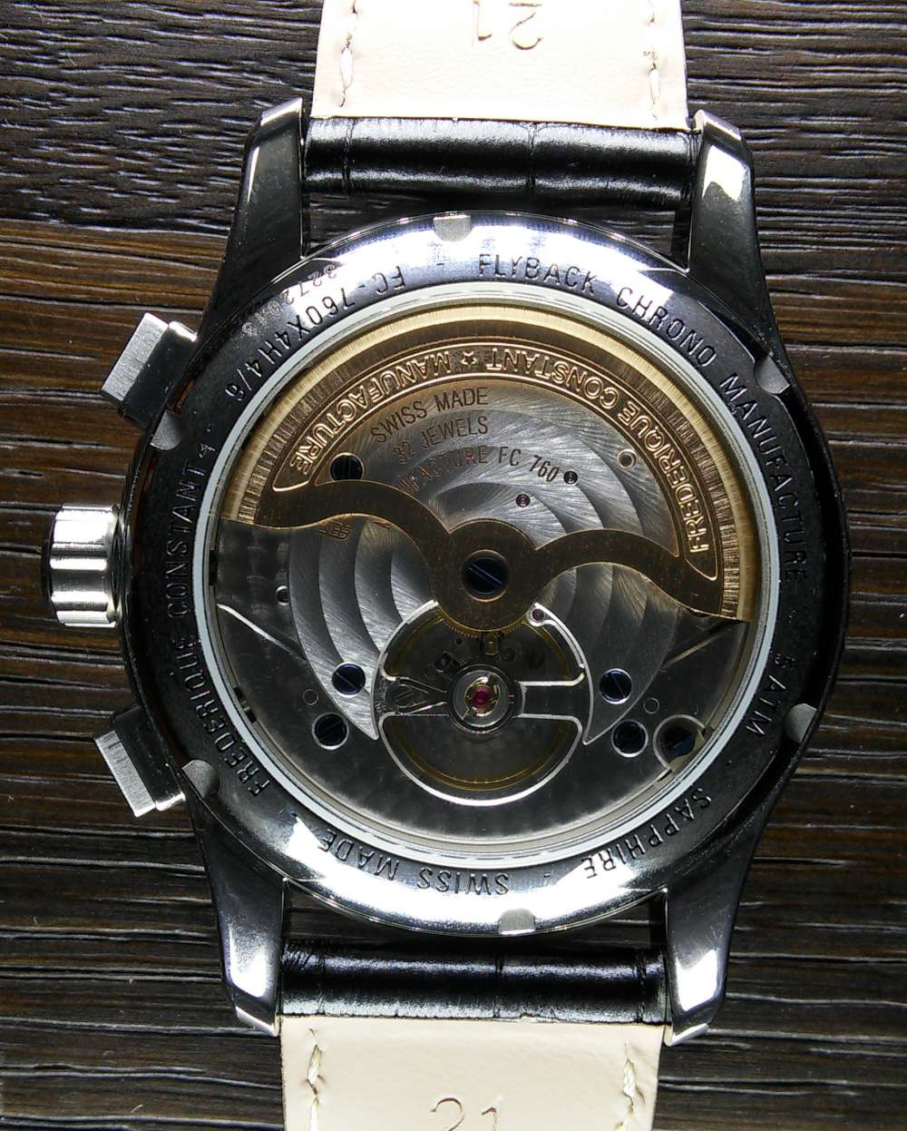 Frederique Constant Flyback Chronograph Manufacture, caseback
