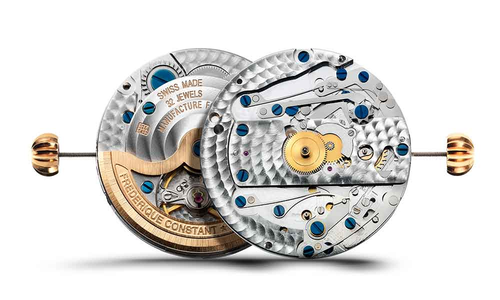 Frederique Constant Flyback Chronograph Manufacture, 760 movement front and back