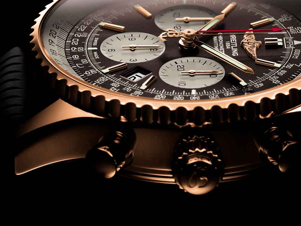 Breitling Navitimer Rattrapante gold