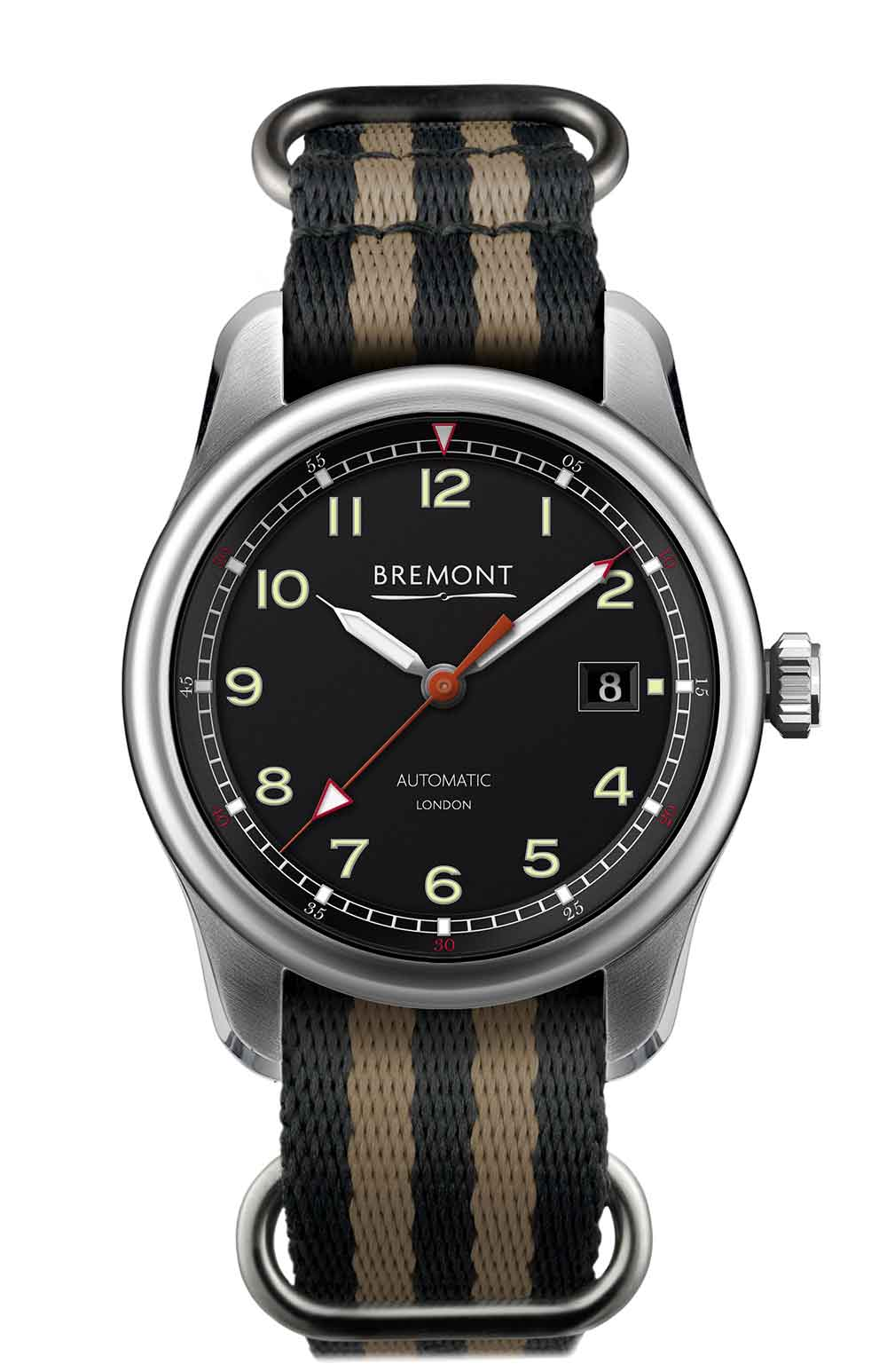 Bremont Airco Mach 1 pilot's watch with NATO strap