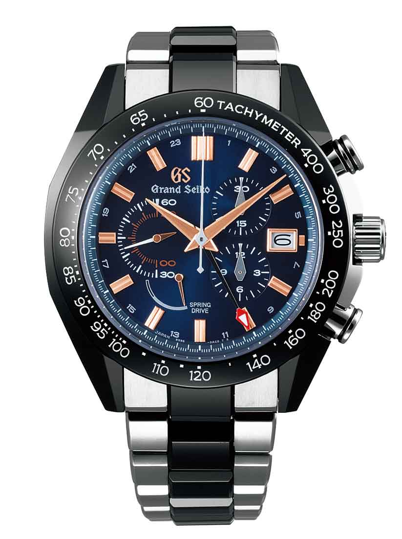 Grand Seiko Black Ceramic Spring Drive Chronograph GMT