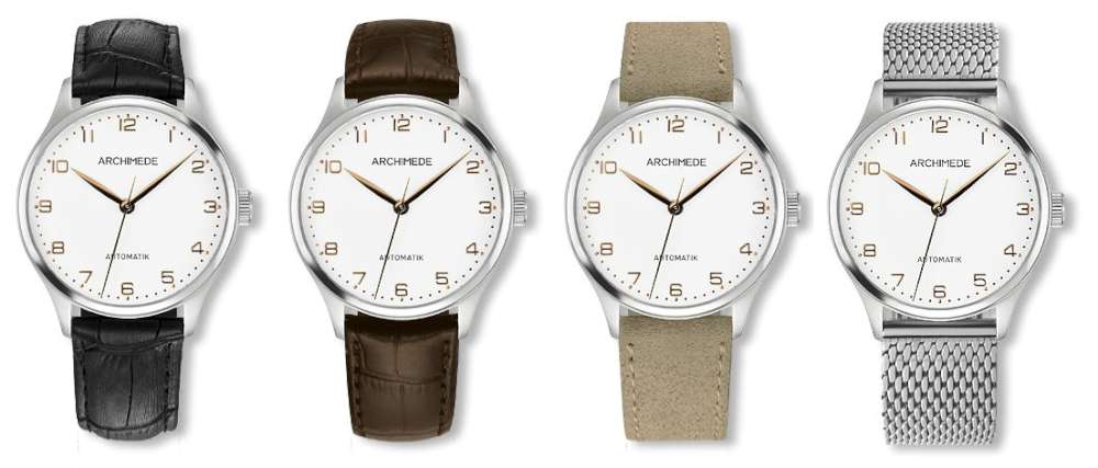 Archimede Klassik 36 BIC dress watch strap options