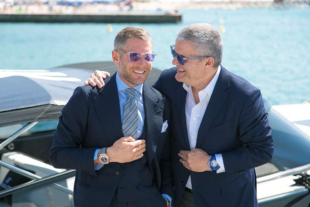 Hublot ambassador Lapo Elkann and CEO Ricardo Guadalupe